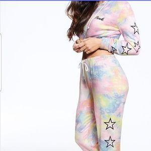 PINK/ Victoria's Secret Tie Dye Jogger set.